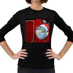 Antique Car Auto Roadster Old Women s Long Sleeve Dark T Shirts
