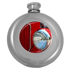 Antique Car Auto Roadster Old Round Hip Flask (5 Oz) by Amaryn4rt
