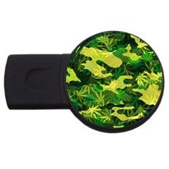 Marijuana Camouflage Cannabis Drug Usb Flash Drive Round (2 Gb) by Amaryn4rt