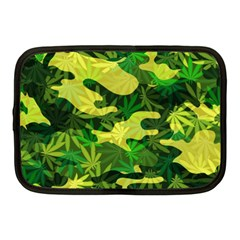 Marijuana Camouflage Cannabis Drug Netbook Case (medium)  by Amaryn4rt