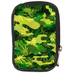 Marijuana Camouflage Cannabis Drug Compact Camera Cases by Amaryn4rt