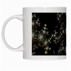 Fractal Math Geometry Backdrop White Mugs by Amaryn4rt
