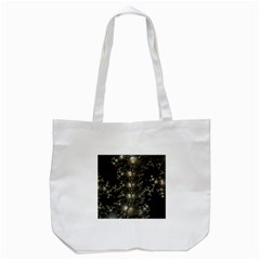 Fractal Math Geometry Backdrop Tote Bag (white)