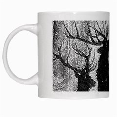 Stag Deer Forest Winter Christmas White Mugs by Amaryn4rt