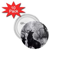 Stag Deer Forest Winter Christmas 1 75  Buttons (10 Pack) by Amaryn4rt