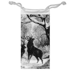 Stag Deer Forest Winter Christmas Jewelry Bag by Amaryn4rt
