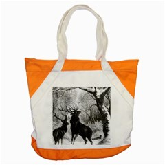 Stag Deer Forest Winter Christmas Accent Tote Bag by Amaryn4rt