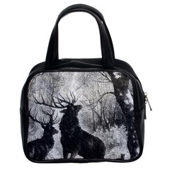 Stag Deer Forest Winter Christmas Classic Handbags (2 Sides) by Amaryn4rt