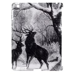 Stag Deer Forest Winter Christmas Apple Ipad 3/4 Hardshell Case (compatible With Smart Cover) by Amaryn4rt