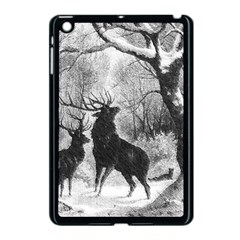 Stag Deer Forest Winter Christmas Apple Ipad Mini Case (black) by Amaryn4rt