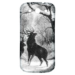 Stag Deer Forest Winter Christmas Samsung Galaxy S3 S Iii Classic Hardshell Back Case by Amaryn4rt