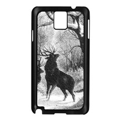 Stag Deer Forest Winter Christmas Samsung Galaxy Note 3 N9005 Case (black) by Amaryn4rt
