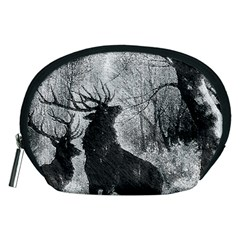 Stag Deer Forest Winter Christmas Accessory Pouches (medium)  by Amaryn4rt