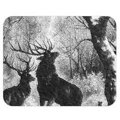 Stag Deer Forest Winter Christmas Double Sided Flano Blanket (Medium)