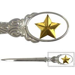 Stars Gold Color Transparency Letter Openers by Amaryn4rt