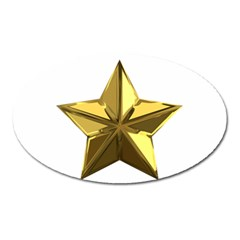 Stars Gold Color Transparency Oval Magnet by Amaryn4rt