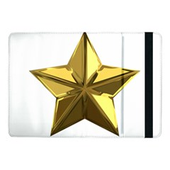Stars Gold Color Transparency Samsung Galaxy Tab Pro 10 1  Flip Case