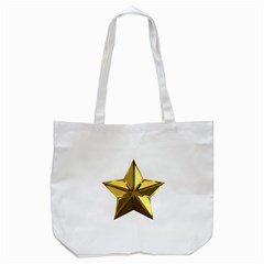 Stars Gold Color Transparency Tote Bag (white) by Amaryn4rt