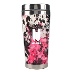 Water Color Splatters Seamless Pattern Stainless Steel Travel Tumbler