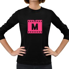 Pink Film  Women s Long Sleeve T Shirt (dark Colored)