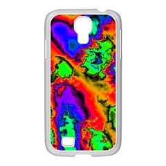 Hot Fractal Statement Samsung Galaxy S4 I9500/ I9505 Case (white) by Fractalworld