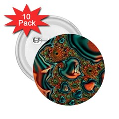 Painted Fractal 2 25  Buttons (10 Pack)  by Fractalworld