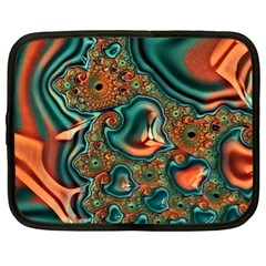 Painted Fractal Netbook Case (xl)  by Fractalworld