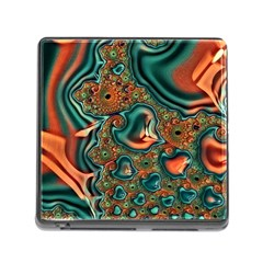 Painted Fractal Memory Card Reader (square) by Fractalworld