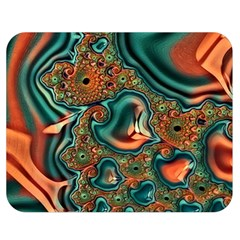 Painted Fractal Double Sided Flano Blanket (medium)  by Fractalworld