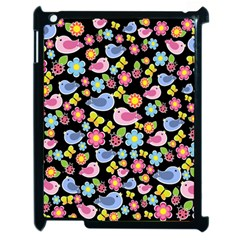 Spring Pattern   Black Apple Ipad 2 Case (black) by Valentinaart