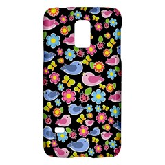 Spring Pattern   Black Galaxy S5 Mini by Valentinaart