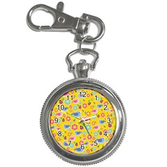 Spring Pattern   Yellow Key Chain Watches by Valentinaart