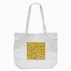 Spring Pattern   Yellow Tote Bag (white) by Valentinaart