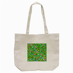 Spring Pattern   Green Tote Bag (cream) by Valentinaart