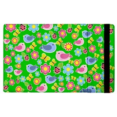 Spring Pattern   Green Apple Ipad 2 Flip Case by Valentinaart