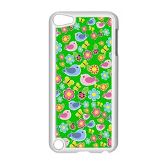 Spring Pattern   Green Apple Ipod Touch 5 Case (white) by Valentinaart