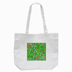 Spring Pattern   Green Tote Bag (white) by Valentinaart