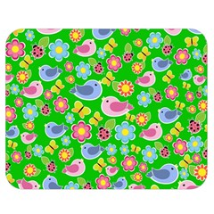 Spring pattern - green Double Sided Flano Blanket (Medium)