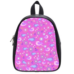 Spring Pattern   Pink School Bags (small)  by Valentinaart