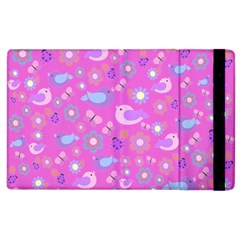 Spring Pattern   Pink Apple Ipad 2 Flip Case by Valentinaart