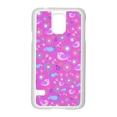 Spring Pattern   Pink Samsung Galaxy S5 Case (white) by Valentinaart