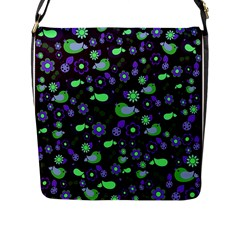 Spring Night Flap Messenger Bag (l)  by Valentinaart