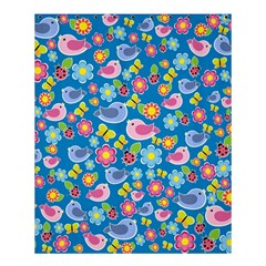 Spring Pattern   Blue Shower Curtain 60  X 72  (medium)  by Valentinaart