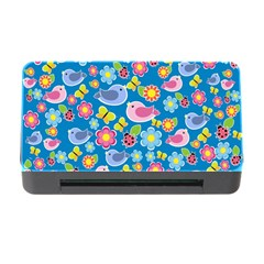 Spring Pattern   Blue Memory Card Reader With Cf by Valentinaart