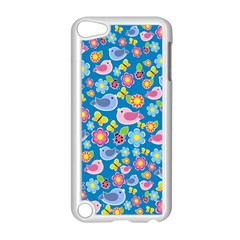 Spring Pattern   Blue Apple Ipod Touch 5 Case (white) by Valentinaart