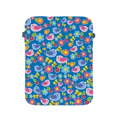 Spring Pattern   Blue Apple Ipad 2/3/4 Protective Soft Cases by Valentinaart