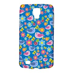 Spring Pattern   Blue Galaxy S4 Active by Valentinaart