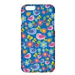 Spring Pattern   Blue Apple Iphone 6 Plus/6s Plus Hardshell Case by Valentinaart