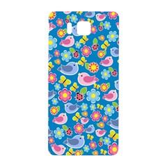 Spring Pattern   Blue Samsung Galaxy Alpha Hardshell Back Case by Valentinaart