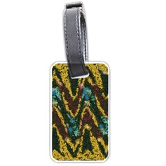 Painted Waves                                                         			luggage Tag (one Side) by LalyLauraFLM